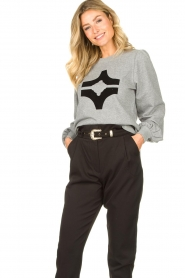 Sofie Schnoor |  Sweater with print Edith | grey  | Picture 2