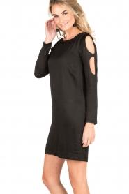 IKKS | Cut-out jurk Fernanda | zwart  | Afbeelding 4