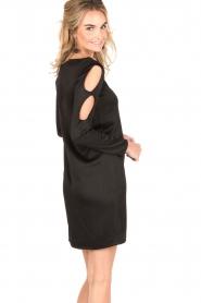 IKKS | Cut-out jurk Fernanda | zwart  | Afbeelding 5