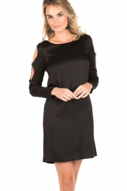 IKKS | Cut-out jurk Fernanda | zwart  | Afbeelding 2