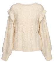 Sofie Schnoor |  Soft sweater with shoulder details Tereza | natural  | Picture 1