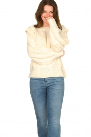 Sofie Schnoor |  Soft sweater with shoulder details Tereza | natural  | Picture 2