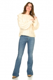 Sofie Schnoor |  Soft sweater with shoulder details Tereza | natural  | Picture 3