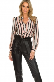 ELISABETTA FRANCHI |  Blouse with print Nero | black  | Picture 2