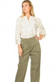 Sofie Schnoor    Dotted blouse Malikka   white     Picture 4