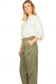 Sofie Schnoor |  Dotted blouse Malikka | white   | Picture 5