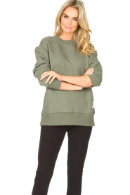 Lune Active |  Basic sweater Kylie | green  | Picture 2