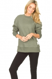Lune Active |  Basic sweater Kylie | green  | Picture 4