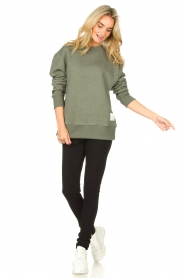 Lune Active |  Basic sweater Kylie | green  | Picture 3
