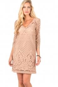 Atos Lombardini | Kanten jurk Avera | roze   | Afbeelding 2