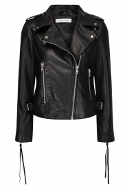Sofie Schnoor |  Studded leather biker jacket Emili | black  | Picture 1