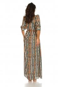 ELISABETTA FRANCHI |  Striped maxi dress Kelsi | multi  | Picture 5