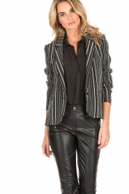 IKKS |  Blazer Stef | black/white  | Picture 6