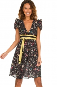ELISABETTA FRANCHI |  Printed dress Jaelle | black  | Picture 4
