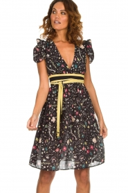 ELISABETTA FRANCHI |  Printed dress Jaelle | black  | Picture 2