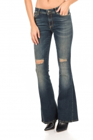 Atos Lombardini | 5-pocket flared jeans Mino lengtemaat 32 | blauw  | Afbeelding 2