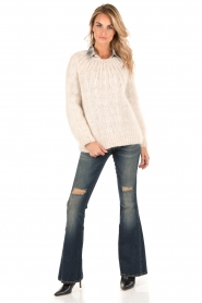 Atos Lombardini | 5-pocket flared jeans Mino lengtemaat 32 | blauw  | Afbeelding 3