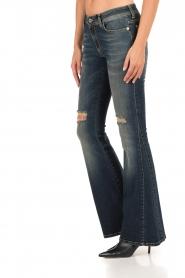 Atos Lombardini | 5-pocket flared jeans Mino lengtemaat 32 | blauw  | Afbeelding 4