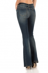Atos Lombardini | 5-pocket flared jeans Mino lengtemaat 32 | blauw  | Afbeelding 5