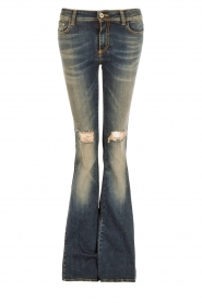 Atos Lombardini | 5-pocket flared jeans Mino lengtemaat 32 | blauw  | Afbeelding 1