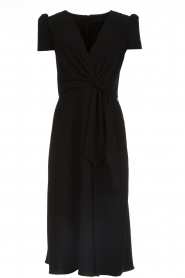 ELISABETTA FRANCHI |  Midi dress with dainty draping Lize | black  | Picture 1
