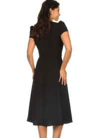 ELISABETTA FRANCHI |  Midi dress with dainty draping Lize | black  | Picture 6