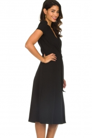 ELISABETTA FRANCHI |  Midi dress with dainty draping Lize | black  | Picture 5
