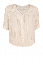 Patrizia Pepe | Zijden blouse Mayla | wit  | Afbeelding 1