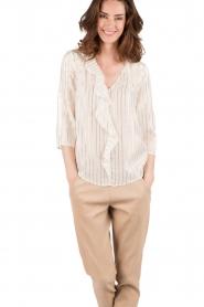 Patrizia Pepe | Zijden blouse Mayla | wit  | Afbeelding 2
