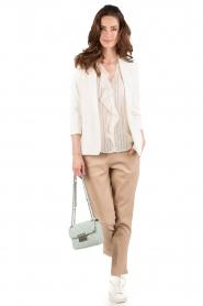 Patrizia Pepe | Zijden blouse Mayla | wit  | Afbeelding 3
