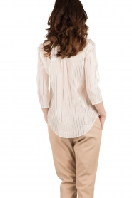 Patrizia Pepe | Zijden blouse Mayla | wit  | Afbeelding 5
