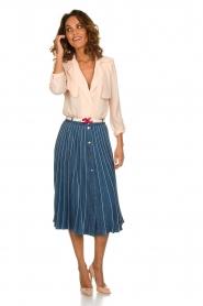 ELISABETTA FRANCHI | Plissé spijkerrok Franca | blauw  | Afbeelding 3