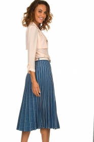ELISABETTA FRANCHI | Plissé spijkerrok Franca | blauw  | Afbeelding 4