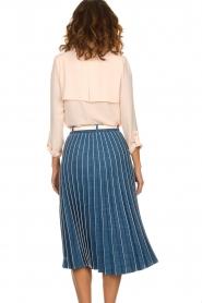 ELISABETTA FRANCHI | Plissé spijkerrok Franca | blauw  | Afbeelding 5