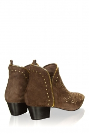 Sofie Schnoor |  Suede ankle boots Vally | dark brown  | Picture 4