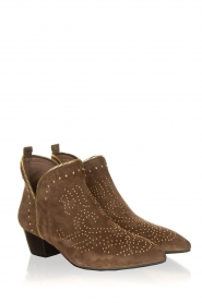 Sofie Schnoor |  Suede ankle boots Vally | dark brown  | Picture 3