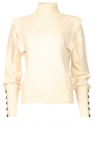 Be Pure |  Turtleneck sweater with shoulder details Dolly | beige  | Picture 1