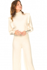 Be Pure |  Turtleneck sweater with shoulder details Dolly | beige  | Picture 5