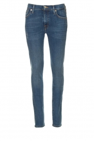 7 For All Mankind |  Jeans with  rhinestones Slim | blue  | Picture 1
