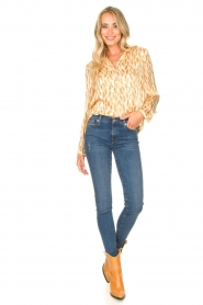 7 For All Mankind |  Jeans with  rhinestones Slim | blue  | Picture 2