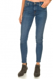 7 For All Mankind |  Jeans with  rhinestones Slim | blue  | Picture 5