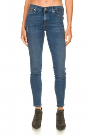 7 For All Mankind |  Jeans with  rhinestones Slim | blue  | Picture 4