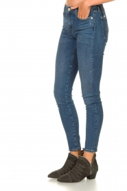 7 For All Mankind |  Jeans with  rhinestones Slim | blue  | Picture 6