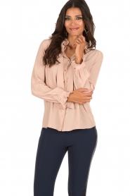 Atos Lombardini | Bow tie blouse Ella | roze  | Afbeelding 2