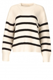 Be Pure    Knitted stripe sweater Josy   natural    Picture 1