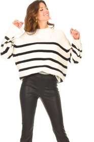 Be Pure    Knitted stripe sweater Josy   natural    Picture 4