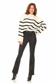 Be Pure    Knitted stripe sweater Josy   natural    Picture 3