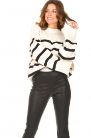 Be Pure    Knitted stripe sweater Josy   natural    Picture 2