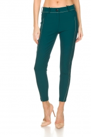 ELISABETTA FRANCHI | Trousers Aimee | green  | Picture 3
