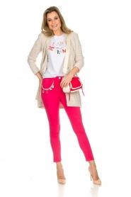 ELISABETTA FRANCHI | Skinny jeans met ketting Loveo | roze  | Afbeelding 2